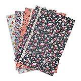 "SumDirect 4Pcs Portable Floral Pattern A4 Size Cotton File Folder, Paper Document Fabric File Pocket Letter Size with Snap Button , 13""x 8.8"" (Multicolor)"