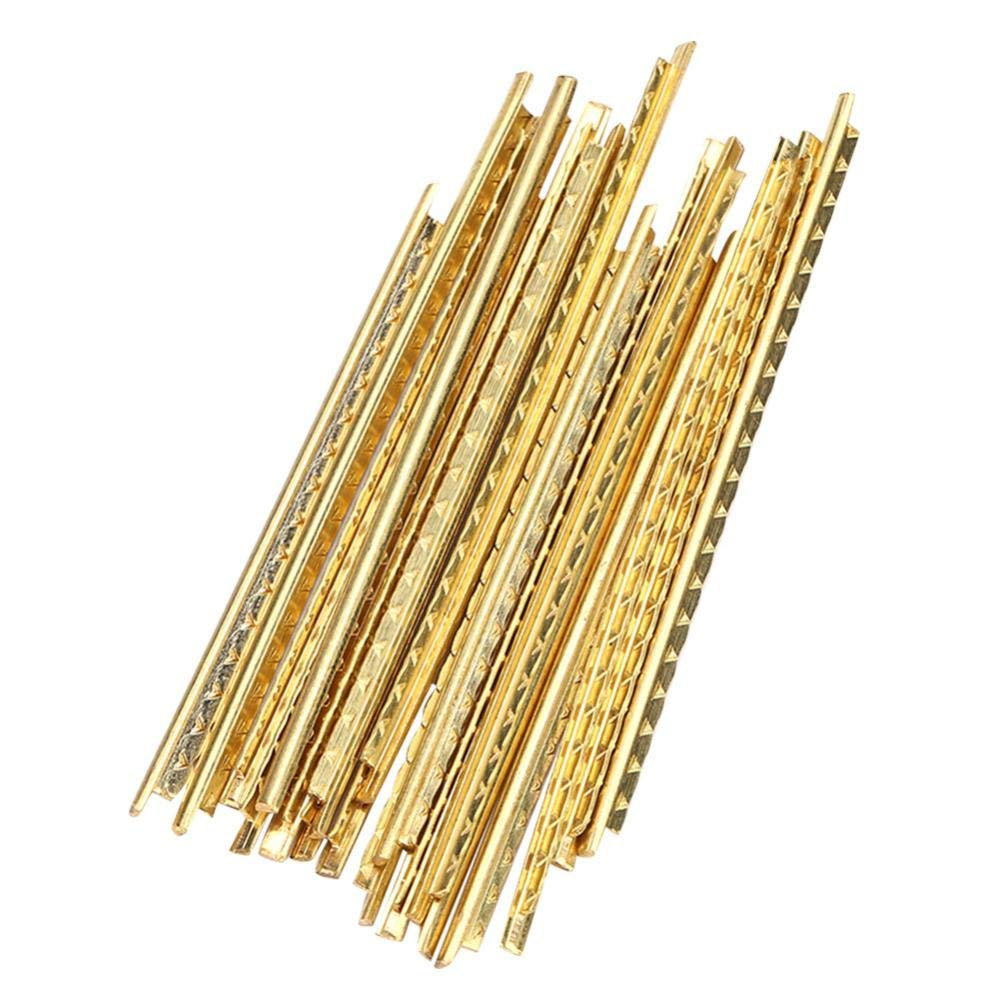 Vbestlife 19Pcs Guitar Fret Wires, Brass Fret Wire Fretwires Classical Acoustic Guitar Fret Wire Fretwire Set 2mm Brass Quality Guitar Parts