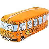 Aiming Animaux école Forme Autobus Toile Crayon Cas Rangement Organisateur Sac à glissière Stylo Poche