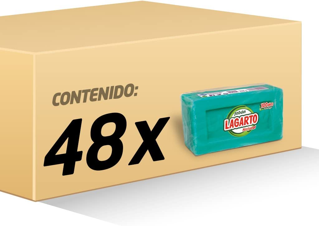 Lagarto Jabón Natural Verde - Paquete de 48 x 250 gr - Total ...