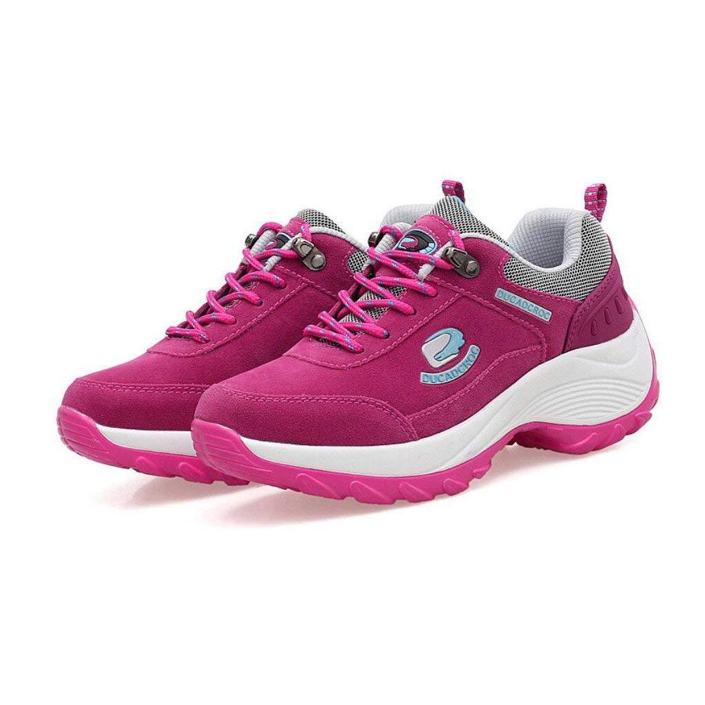 Frauen Wanderschuhe Outdoor Wasserdicht Turnschuhe Koreanische Koreanische Koreanische Atmungsaktive Schuhe Klettern Bergschuhe Laufschuhe Dicke Wanderschuhe (Farbe   B Größe   37) (Farbe   B Größe   EU 40) 4ae9b2