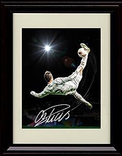 Framed Cristiano Ronaldo Autograph Replica Print - #9 Real Madrid