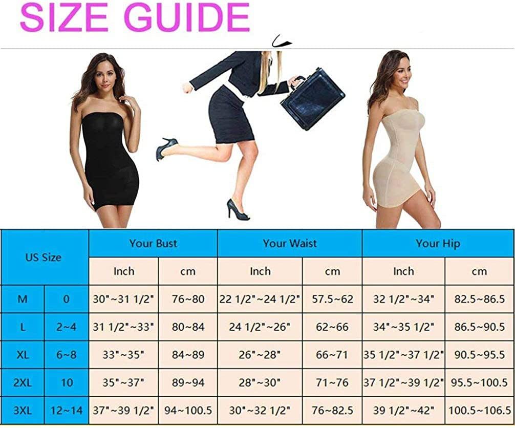 Womens Slimming Under BlackBeige Dress Shapewear Slimming Long Tube S M L XL