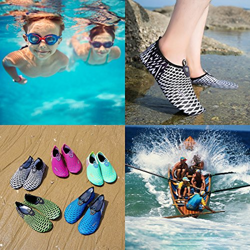 Beach Drifting White Auken for Shoes Exercise Barefoot Swim Sports Shoes Socks Surf Quick and Aqua Water Stripe Yoga Womens Dry Mens qH7An1