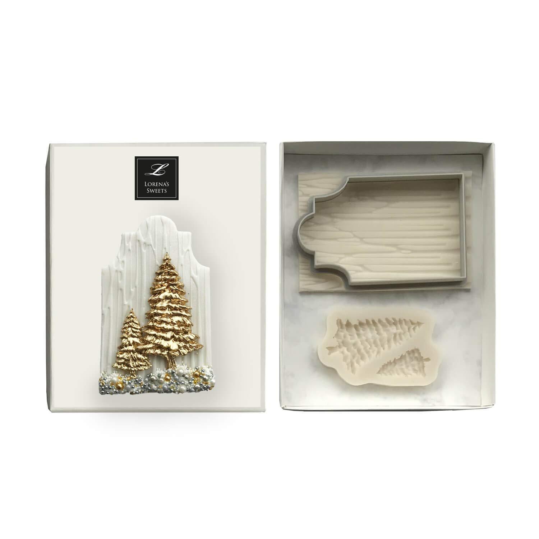 Lorena's Sweets Fondant cookie cutter kit Christmas Trees/Tree