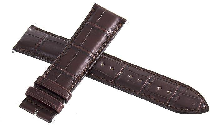 Jaeger LeCoultre – OEM marrón piel de cocodrilo correa de reloj de 22 mm x 20