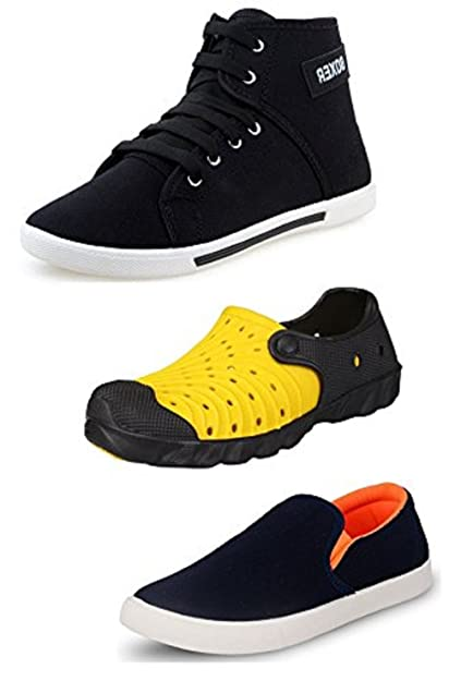 7102bd469b1 Jabra Perfect Men Combo Pack Of 2 Shoes   1 Slippers(Multicolor