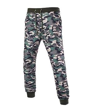 Hombre Pantalones Largos Chándal Pantalón Deportivo Militar ...