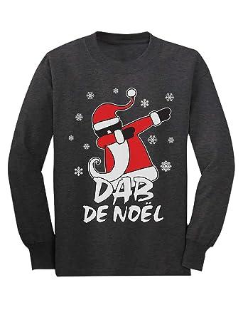Green Turtle T-Shirts Dab Père Noël Fille garçon Noël T-Shirt Manches  Longues 44f88aaf83ae