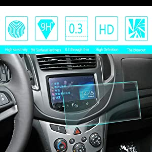 8X-SPEED for 2014 2015 2016 Chevrolet TRAX 7-Inch 15581mm Car Navigation Screen Protector HD Clarity 9H Tempered Glass Anti-Scratch, in-Dash Media Touch Screen GPS Display Protective Film