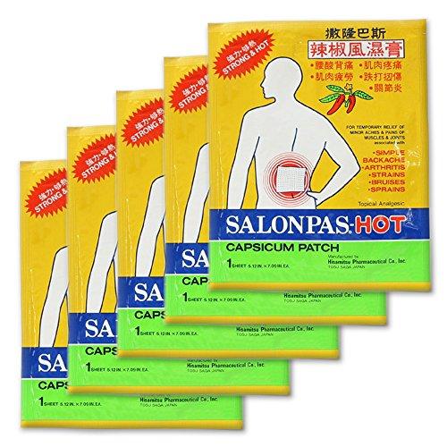 SALONPAS Hot Patch with Capsicum - 5 (Salonpas Hot Capsicum Patch)