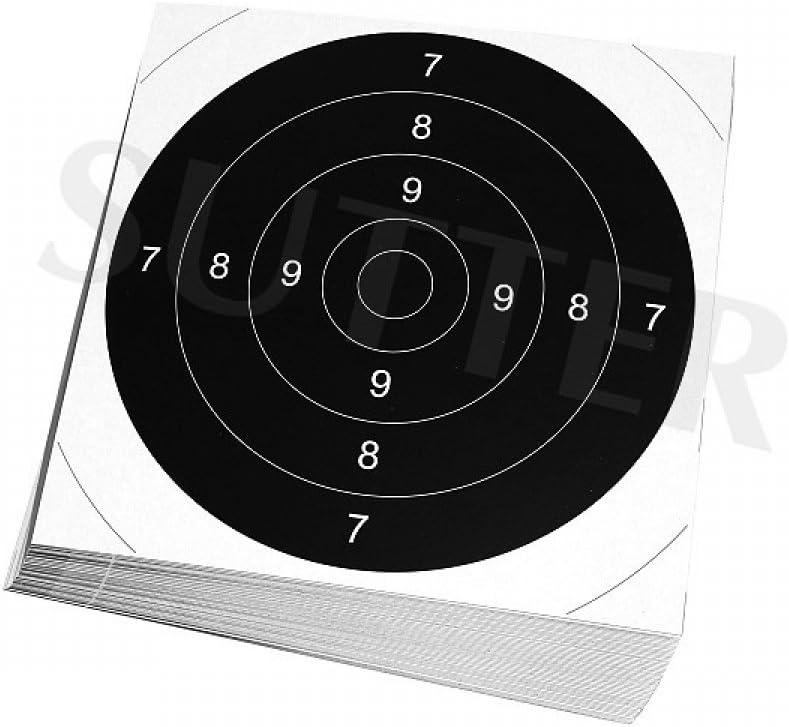 Blanche 55x53cm avec des Fentes dinsertion SUTTER/® Pack de 20 cibles