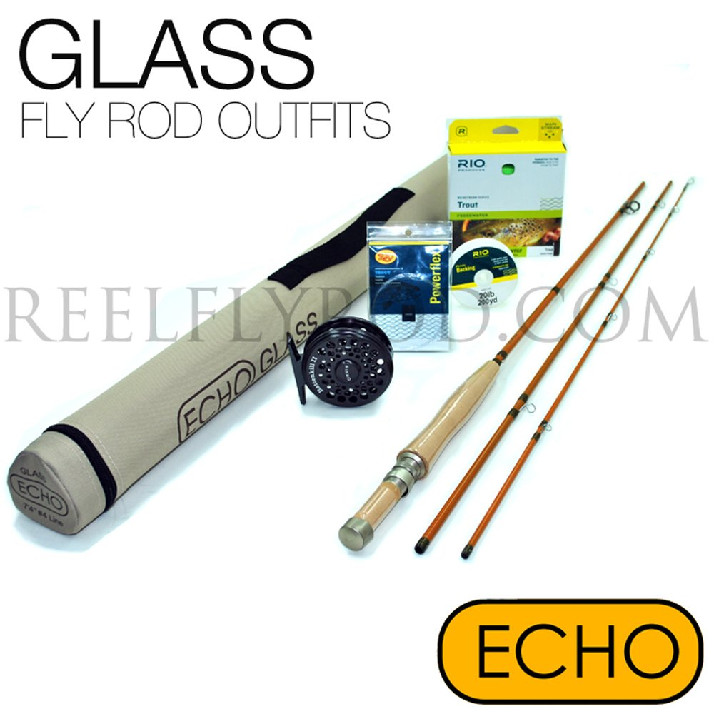 Echo Glass 263-3 Fly Rod Outfit (2wt, 6'3'', 3pc)