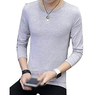 9664dca3ca93 Herren Einfarbig Casual Rundhalsausschnitt Tops Hemd Modernas Langarmshirts  Lässig Slim Fit T Shirt Basic Shirts Blusen