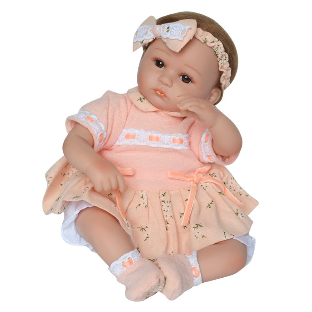 GAOYY Simulation Rebirth Puppe Tuch Körper Silikon Baby Rebirth Puppe Puppe Puppe 45 cm Kinder Playmate,45cm eb2309