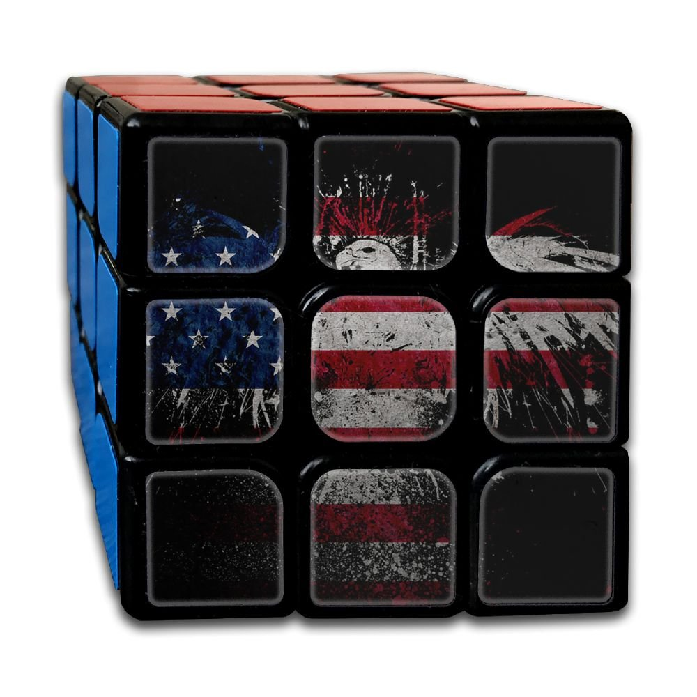 American Eagle Flag 3x3x3 Speed Rubik's Magic Cube Square 3D Printed Puzzles Game Portable Toys-Anti Stress For Anti-anxiety Adults Kids