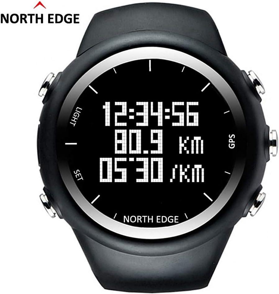 RENYAYA North Edge Profesional GPS al Aire Libre Senderismo Deportes Reloj retroiluminación Impermeable Pulsera Inteligente Ritmo Velocidad calorías Reloj de Running