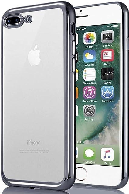 Negro iPhone 7 Plus\/ 8 Plus Funda iPhone 6/6S Slim Silicona