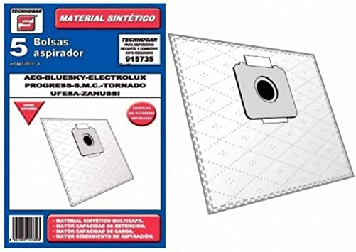 Recamania Bolsa Sintetica Aspirador AEG Bluesky Electrolux 5 Unidades 915735: Amazon.es