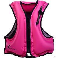 Royal Venus Gonfiabile Portatile Gilet galleggiante Per Adulti,Floatage Vest,Nuoto, Boccaglio, Nuoto. Surf, Immersioni, Canottaggio, Kayak, Canyoning (rosa)