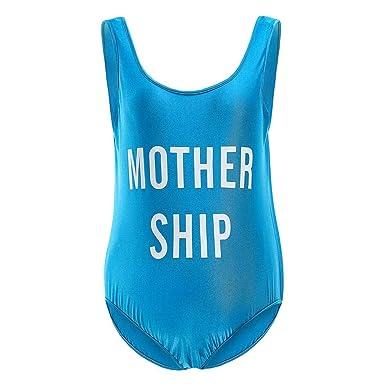 de115bf3e6944 Eachbid Women One Piece Plus Size Maternity Swimsuit Letters Printed  Backless Swimwear Bikinis Bathing Suits Summer