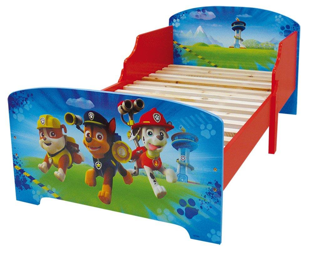 FUN HOUSE 712532 - Letto da bambino dei Paw Patrol, con doghe legno, in MDF, colore: Blu, 140x 70x 59cm CIJEP - JEMINI