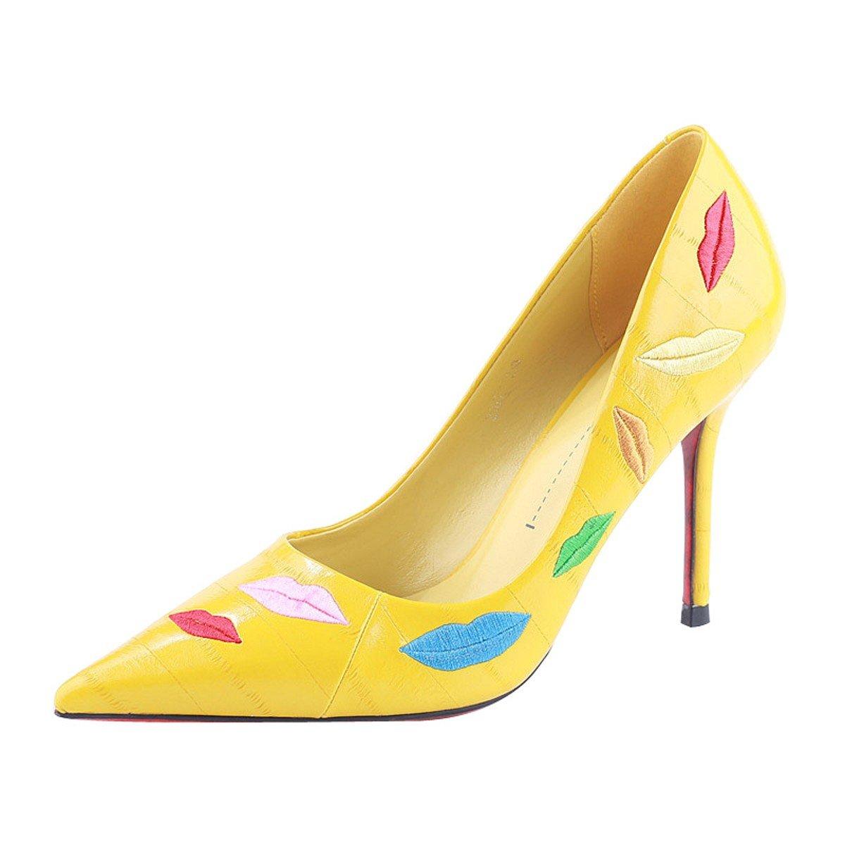 small yellow heels
