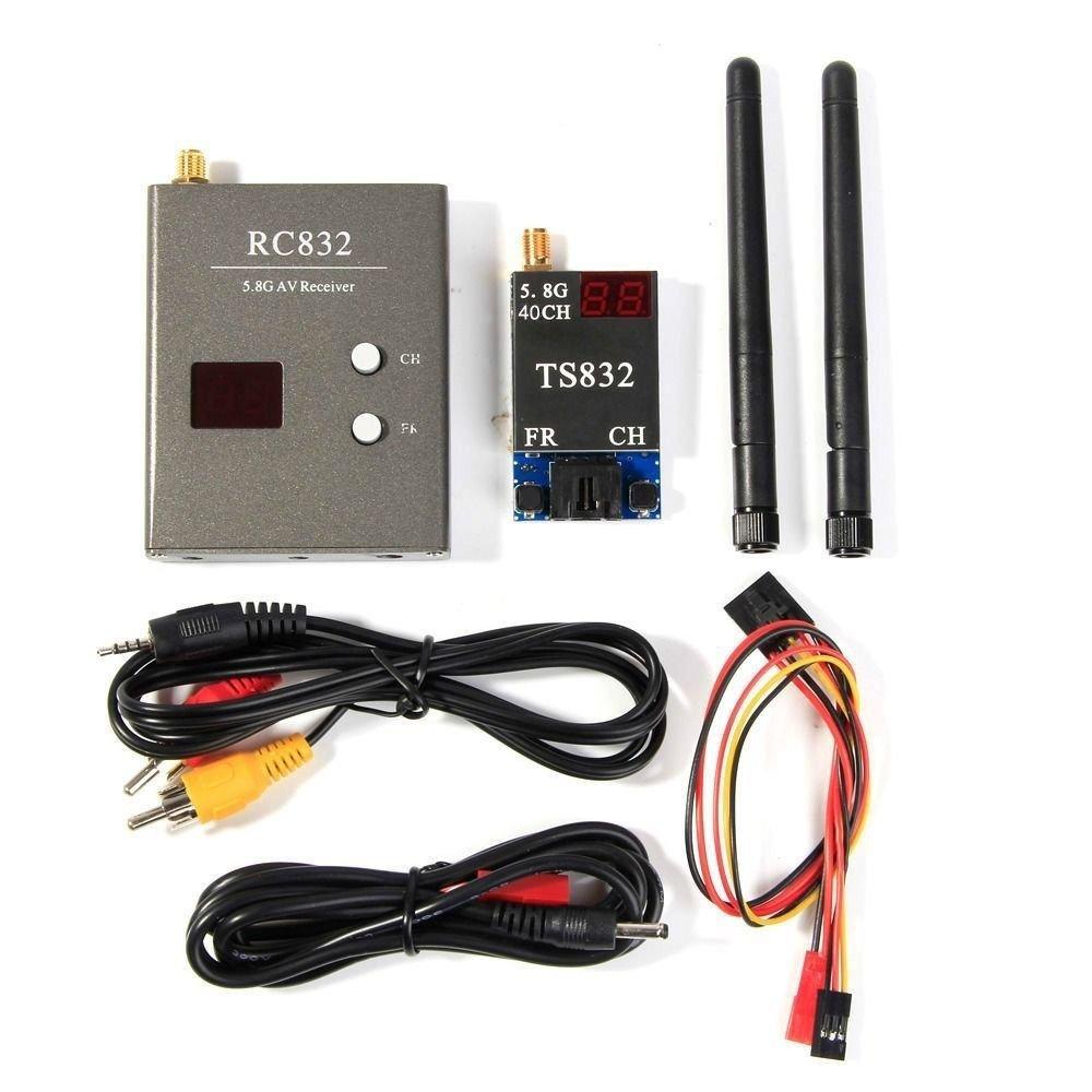 TENINYU 40Ch 5.8G 600mw 5km Wireless AV TX RX Transmitter TS832 Receiver RC832 for FPV DIY RC Drone Car Multicopter