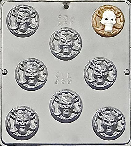 Amazon com: Pirate Coin Chocolate Candy Mold Halloween 959: Candy
