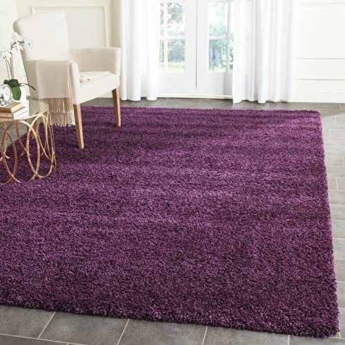 Safavieh Santa Monica Shag Collection SGN725-7373 Purple Plush Area Rug 9 x 12
