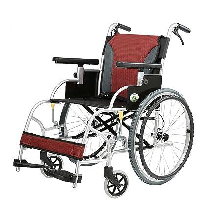 DS Silla de ruedas Silla de Ruedas - Luz Plegable Ligera Plegable del Recorrido de la