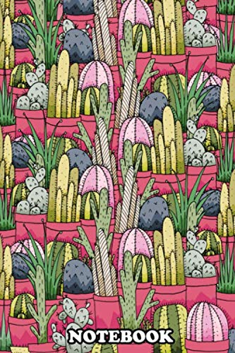 Notebook: Cactus Pots , Journal for Writing, College Ruled Size 6
