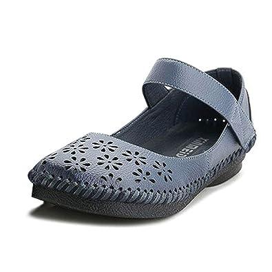 81334304b1d2ed socofy Leather Flat Shoes