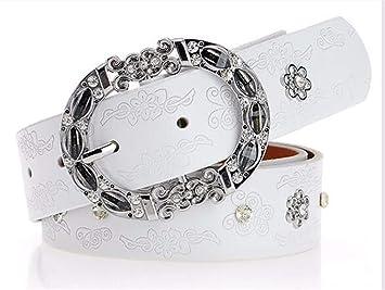 site réputé 55c20 1cba7 HYDYI-PD Ceinture Dame Diamant Forage Ceinture en Cuir de ...