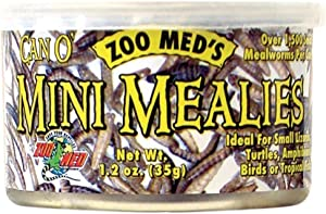 Zoo Med 2 Pack of Can O Mini Mealies Pet Food, 1.2 Ounces Per Can
