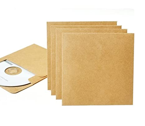 Amazon.com: CD/DVD fundas de papel kraft sobres de ocharzy ...