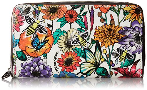 Sakroots Large Zip Around Wallet, Optic in Bloom by Sakroots