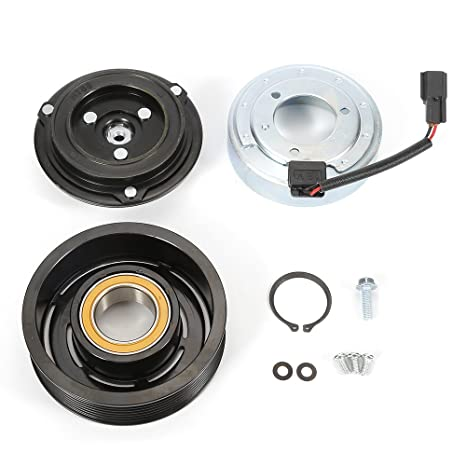A/C compresor Polea del embrague rodamientos bobina Plate Fit para Nissan Infiniti 3.5L