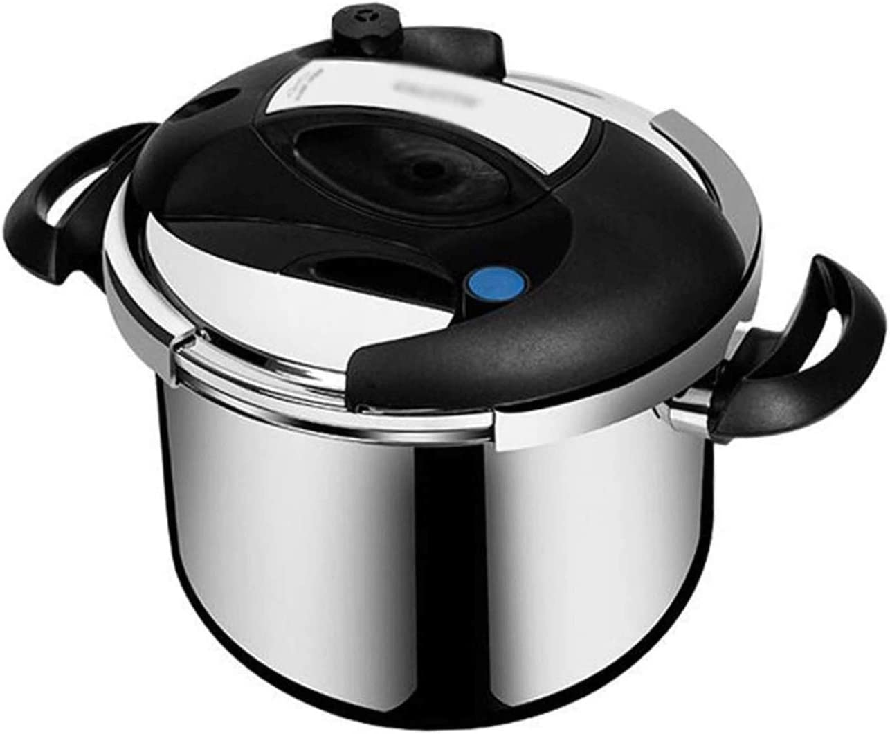 Z-COLOR Stainless Steel Pressure Cooker, Explosion-proof Pressure Cooker with Self-locking Safety Valve, Visible Lid, Household Gas Stove and Induction Cooker (Size : 6L)