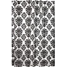 Kiera Grace Printed Peva Shower Curtain, 70 by 72-Inch, Damask