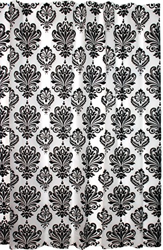 Kiera Grace Printed PEVA (Plastic) Shower Curtain, 70 By 72 Inch, Damask