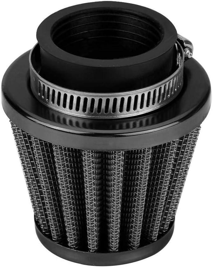 Rockyin 38 mm Filtro de aire de admisi/ón Kit de la inducci/ón de campo a trav/és de la motocicleta del patio de ATV Dirt Pit Bike Negro