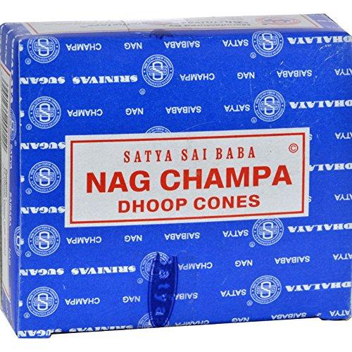 Price comparison product image Sai Baba Nag Champa Incense Cone - Case of 12-12 Packs