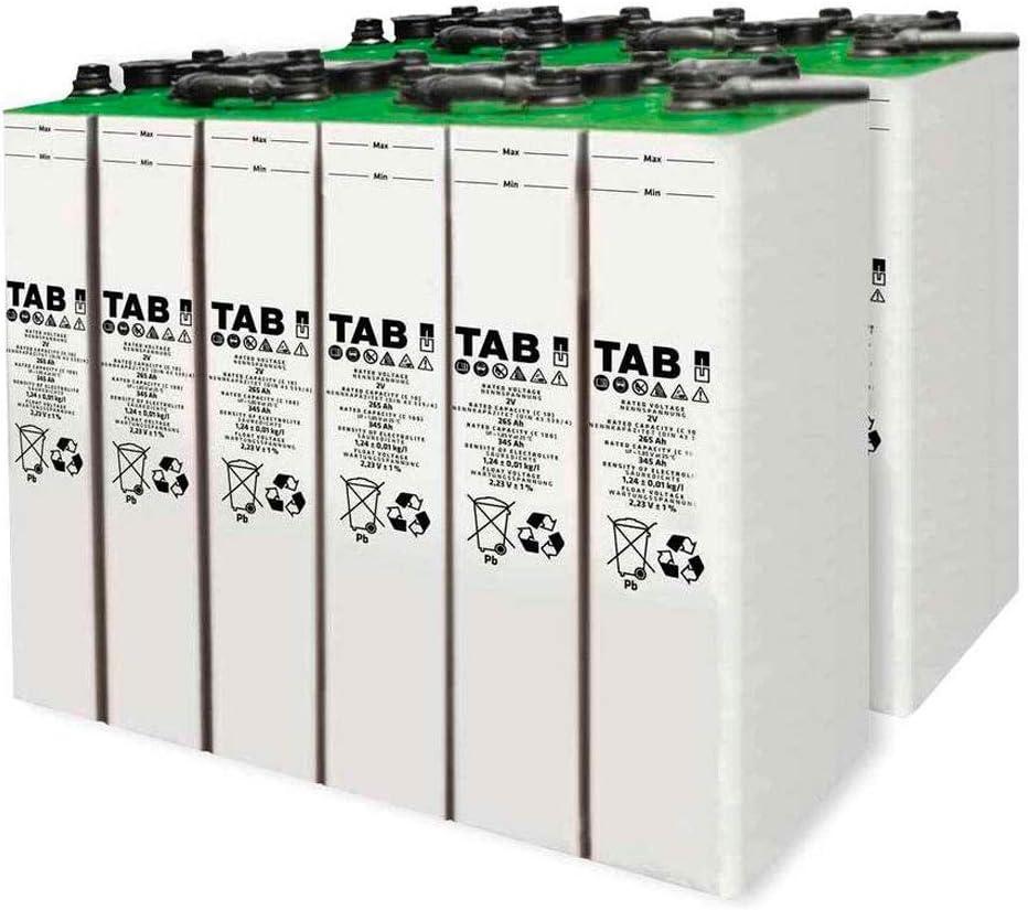 Baterías Estacionarias TAB 4 TOPzS 353-458AH 2V 12 Vasos (+15 años Vida Útil)