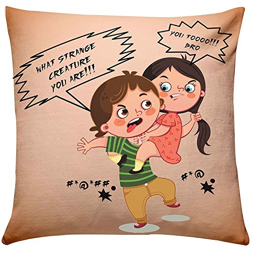 Buy Brother Sister Fighting Cushion