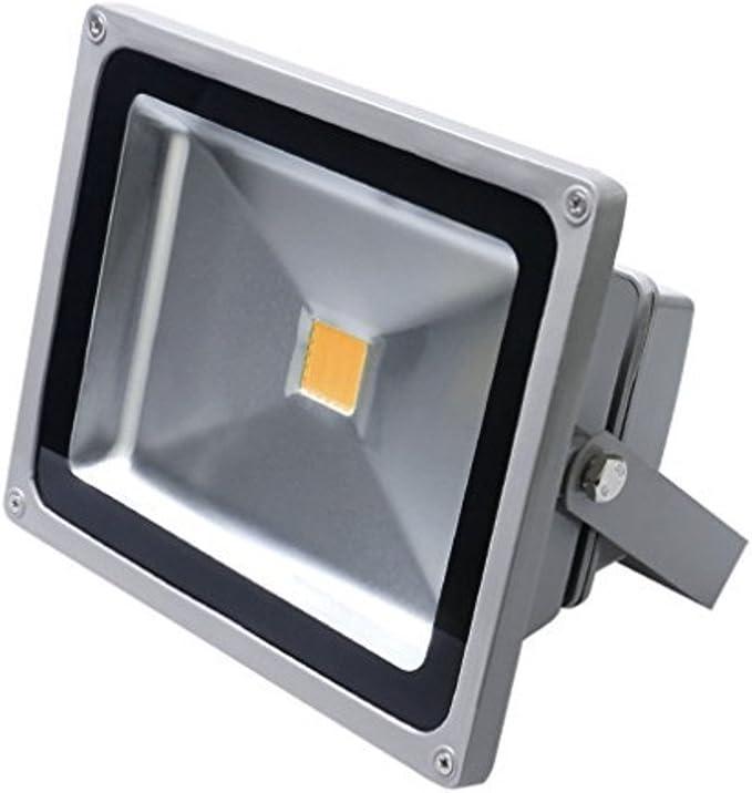 Foco Proyector LED 30 W Blanco Cálido Exterior Proyector Foco ...