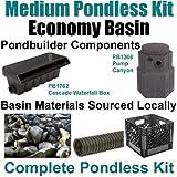 10' x 30' Medium Pondless Waterfall Kit, Economy Basin Kit - Includes Pondbuilder Waterfall Box & Pump Canyon, 4,100 GPH Pump - PMDP2