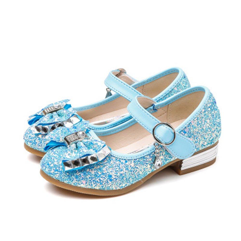 IINFINE Kids Girls Mary Jane Flats Wedding Party Shoes Glitter Bridesmaids Princess Dress Shoes