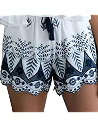 Coromose Women Summer Lace Embroidery Bohemian Casual Shorts Pants
