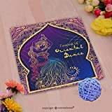 VROSELV Custom Cotton Microfiber Ultra Soft Hand Towel-ornament beautiful card with girl belly dance mehenidi element hand drawn perfect cards for an Custom pattern of household products(14''x14'')